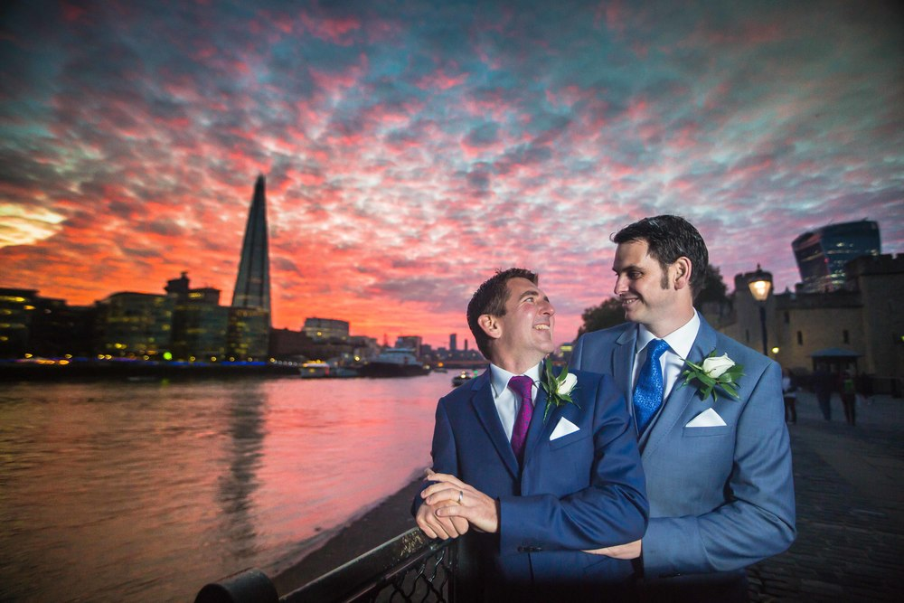 Tower Bridge wedding same sex marriage london 2