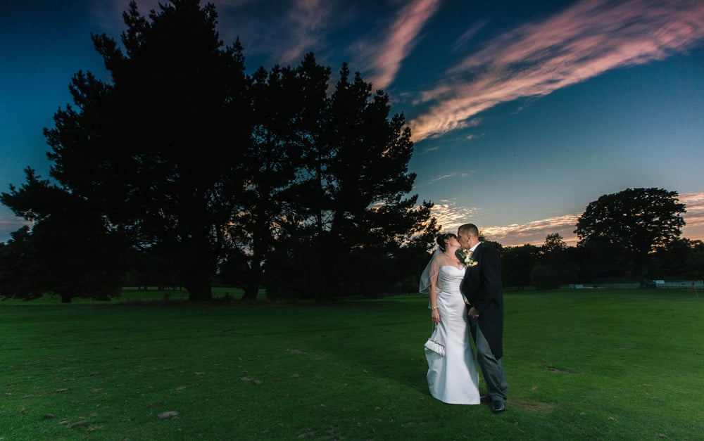 portsmouth wedding hampshire golf club sunset 1