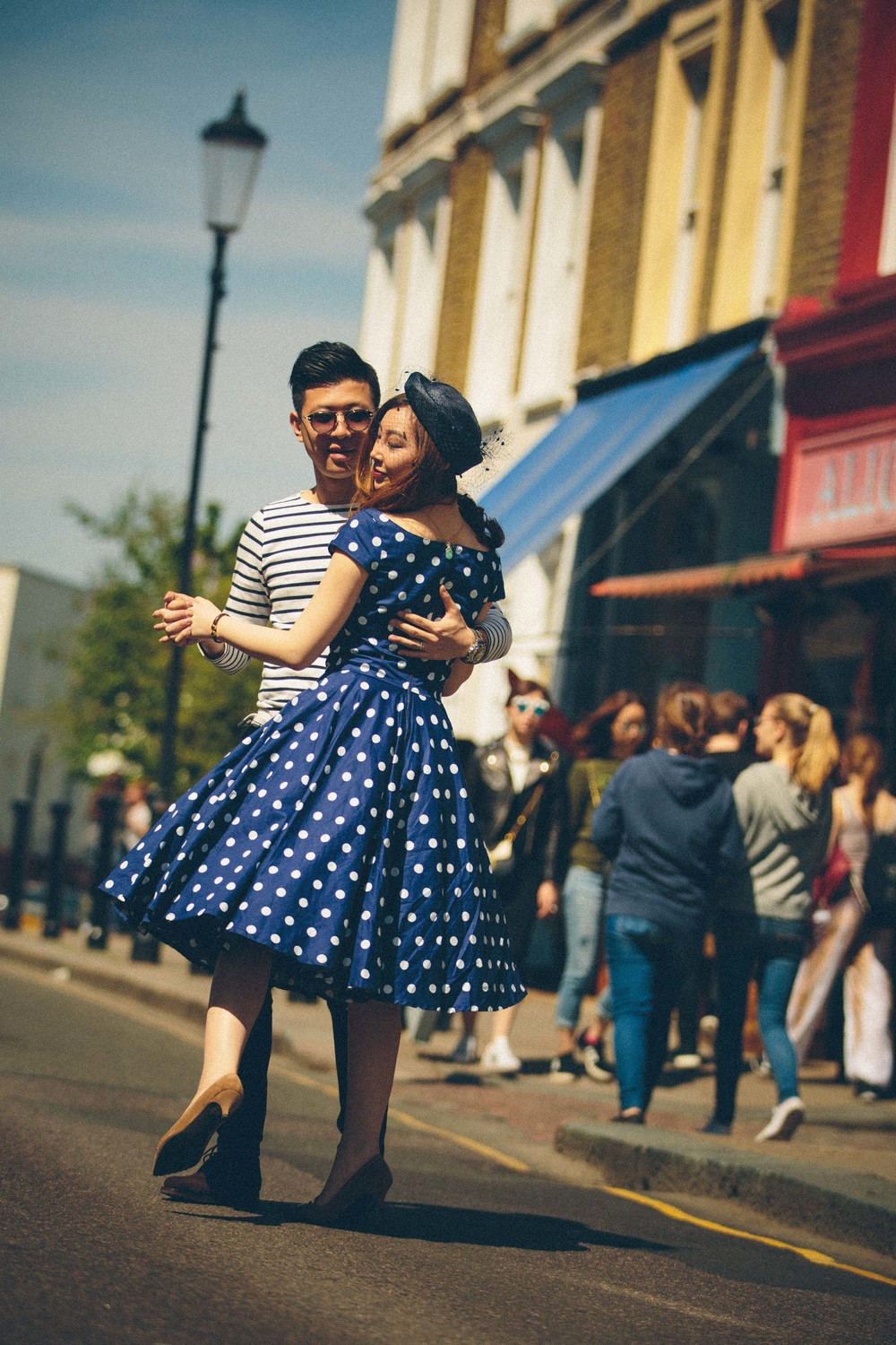 Asian-London-Vintage-Engagement-Wedding-Shoot-Notting-Hill-Regents-Park-2