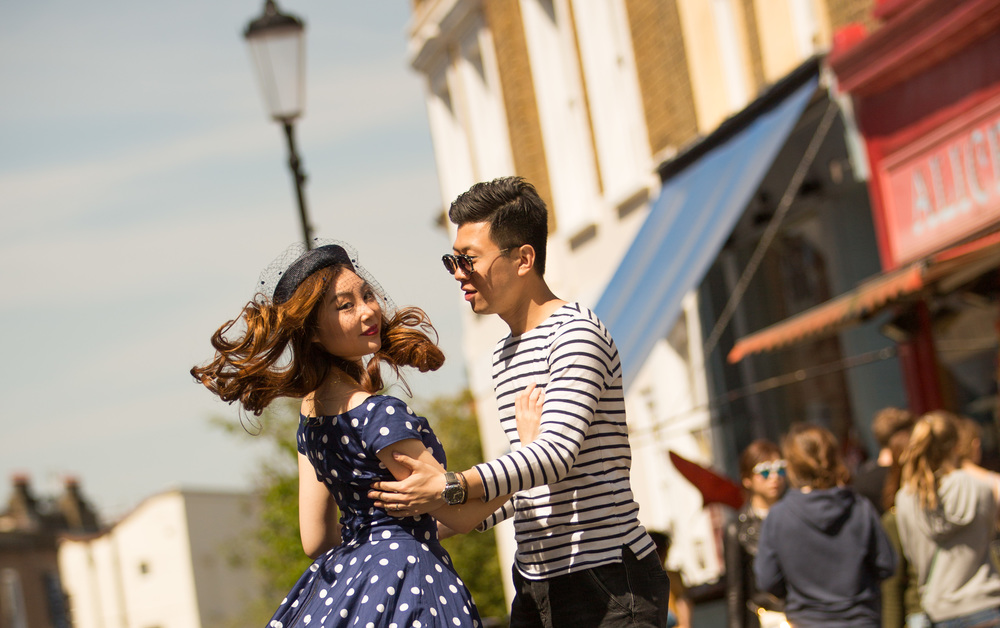 Asian-London-Vintage-Engagement-Wedding-Shoot-Notting-Hill-Regents-Park-7