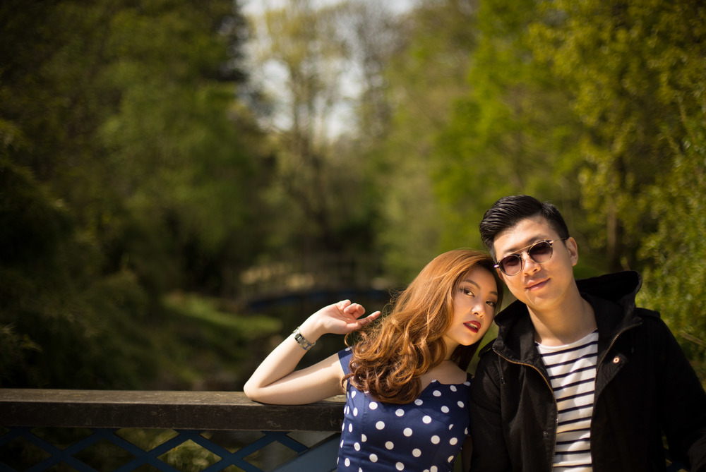 Asian-London-Vintage-Engagement-Wedding-Shoot-Notting-Hill-Regents-Park-15