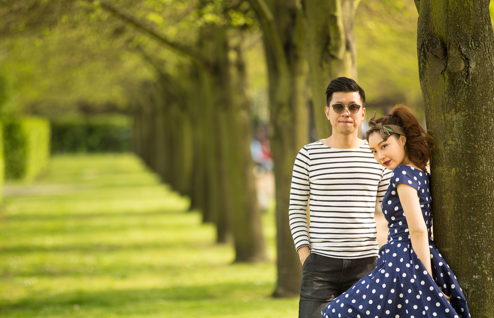 Asian-London-Vintage-Engagement-Wedding-Shoot-Notting-Hill-Regents-Park-20