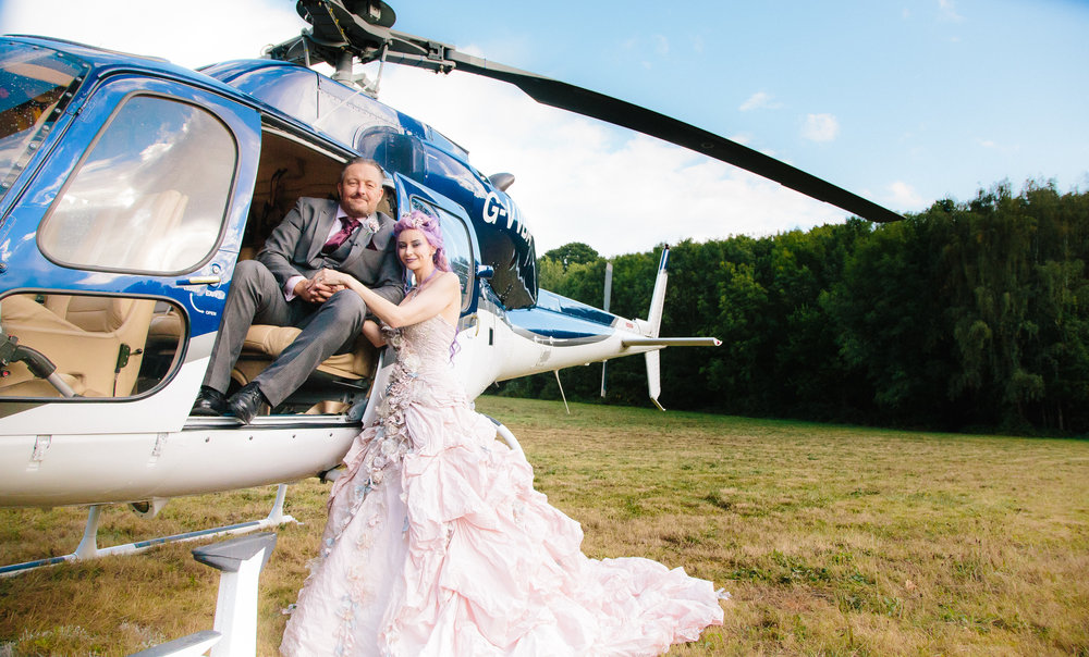 Helicopter-bride-essex-movie-theme-wedding-1
