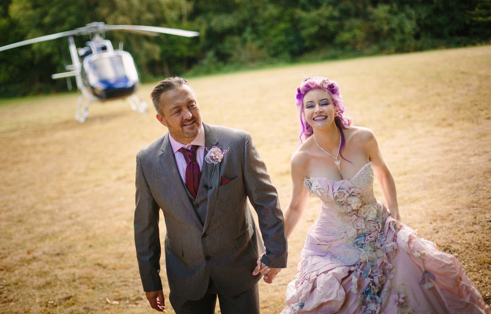 Helicopter-bride-essex-movie-theme-wedding-3
