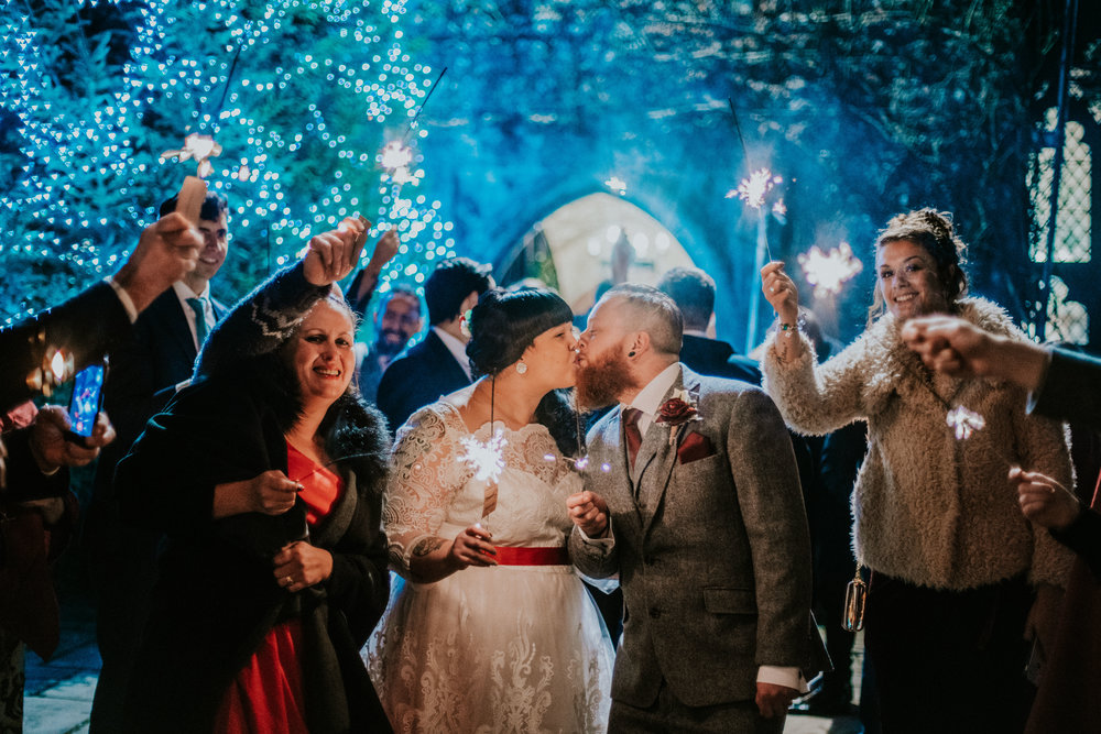 london-kent-wedding-photography-lympne-castle-sparklers-01