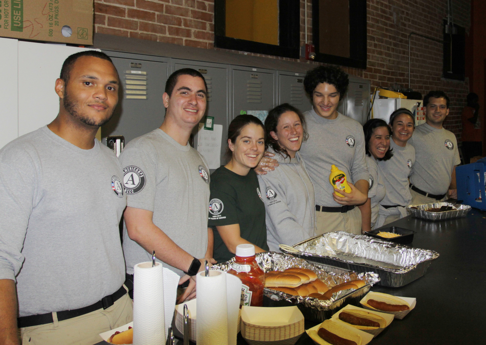 Our awesome volunteers from AmeriCorps