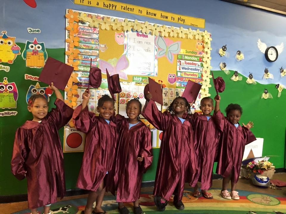 The future class of 2029 celebrate their first graduation
