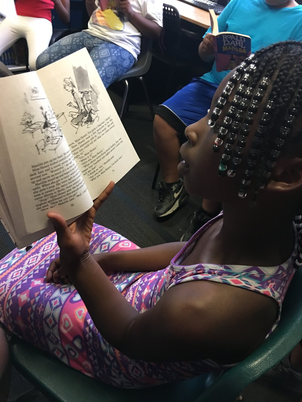 """Our friends at Performing Arts Fort Worth provided our 4th and 5th graders with copies of Roald Dahl's Matilda, along with an accompanying study unit. Then they treated them to the stage production of Matilda at Bass Hall! Talk about bringing stories to life!"