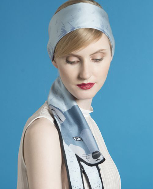 This Month's Favourite Scarf Knot - The Headscarf - Cleo Ferin Mercury -  Animal Long Silk Scarves - summer style inspiration
