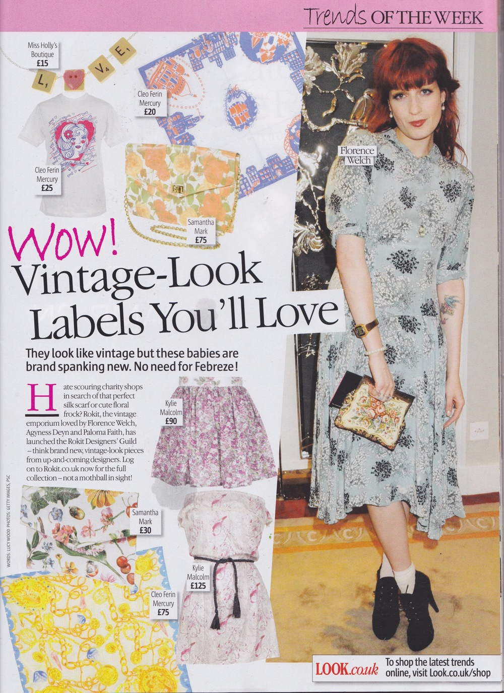 Cleo Ferin Mercury silk scarves as seen in Look Magazine