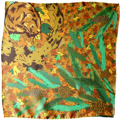 Hibernate with me - designer silk pocket square