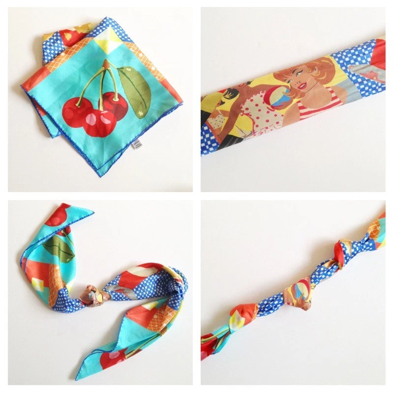 Designer silk scarf - how to tie the necklace knot