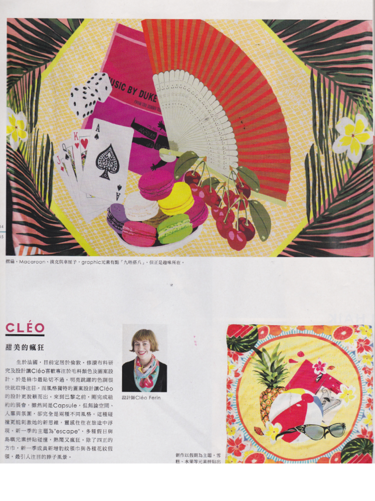 Designer Silk Scarves as seen in Ming Pao Weekly Magazine