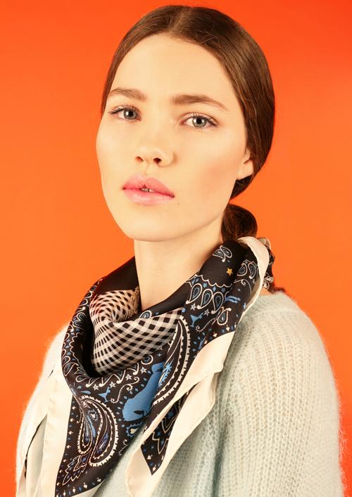 Cléo Ferin Mercury - Designer Silk Scarf - Cowgirl Silk Scarf.jpg