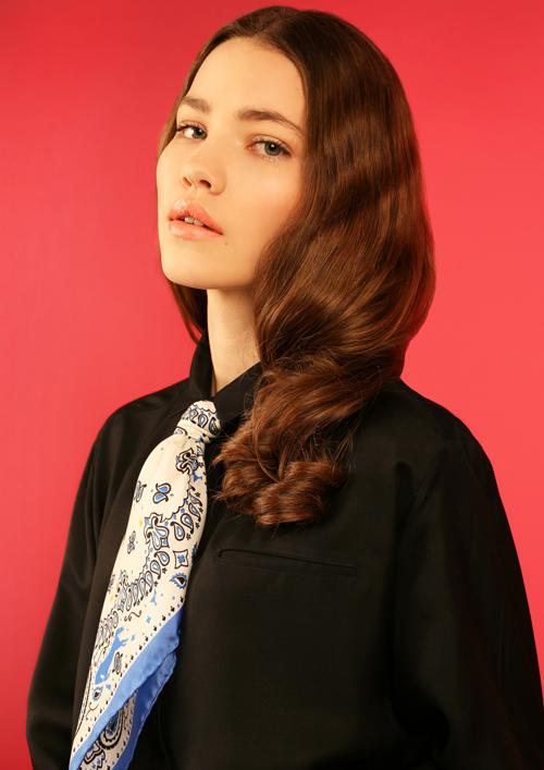 Cléo Ferin Mercury - Designer Silk Scarf - Small Cowgirl Silk  Scarf.jpg