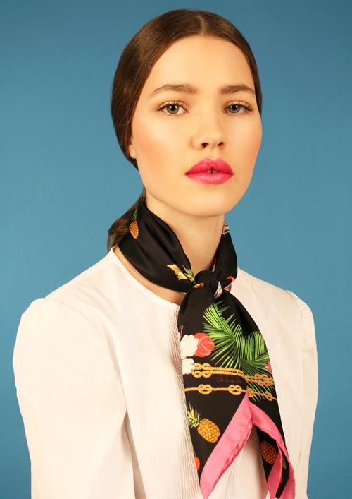 Cléo Ferin Mercury - Designer Silk Scarf - Small Flamingo Silk  Scarf.jpg