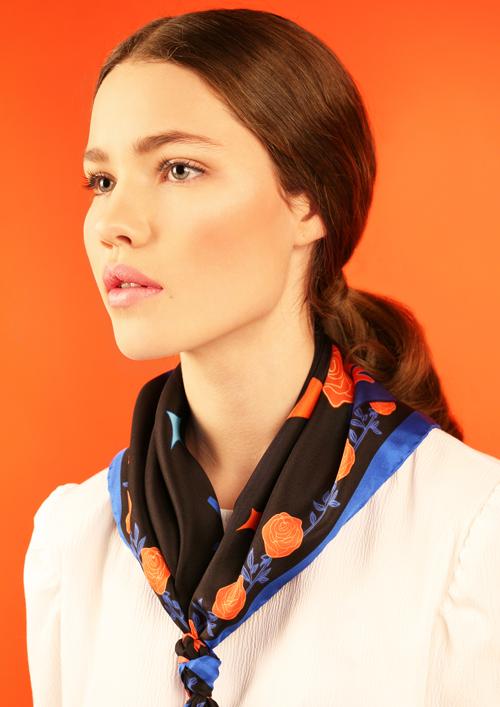 Cléo Ferin Mercury - Designer Silk Scarf - Small Motel Silk Scarf.jpg
