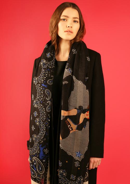Cléo Ferin Mercury - Designer Wool Scarf - Cowgirl Wool Scarf.jpg