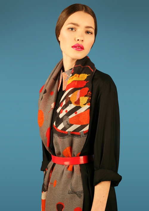 Cléo Ferin Mercury - Designer Wool Scarf - Diner Wool Scarf.jpg