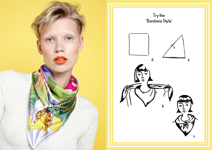Bandana Style SS14 Picnic - how to style a silk scarf - Square Silk Scarf.jpg