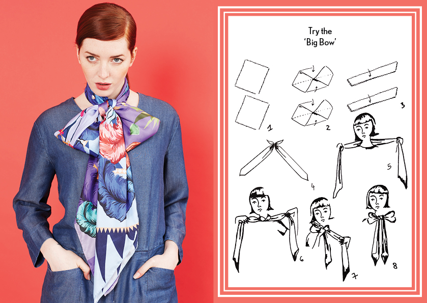 Big Bow AW14 Circus Medium Scarves - how to style a silk scarf - Square Silk Scarf.jpg