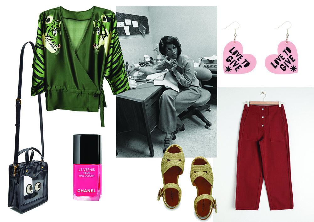 时尚风格 - cleo ferin mercury - 丝巾 - 动物印花 - 衬衫 - 老虎印 - 时尚风格.jpg