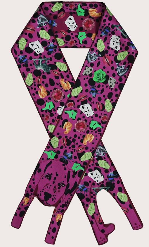 赢一条动物围巾 - 微型 纪念品 達爾馬提亞印刷品 - 达尔马提亚印刷品 - 狗打印 - 動物真絲圍巾 - 动物真丝围巾 - Cleo Ferin Mercury 原版的 - 英国设计.jpg