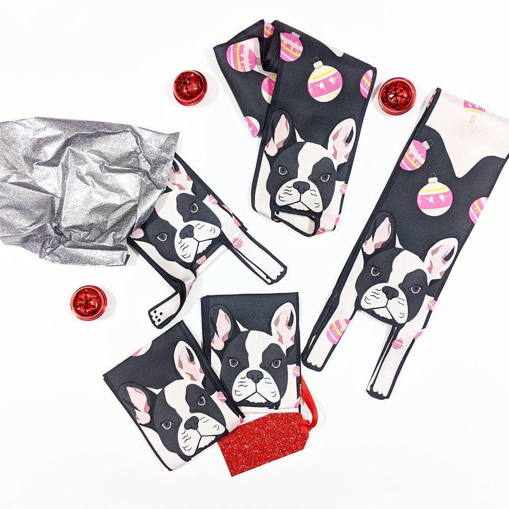 Free French Bulldog With Baubles Print Twilly Scarf - Cleo Ferin Mercury - Offer - Discount - Blog.jpg