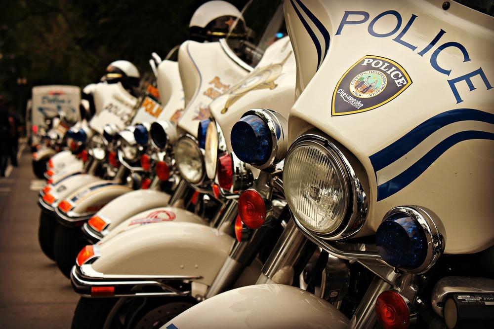 Police Motorbike Lineup