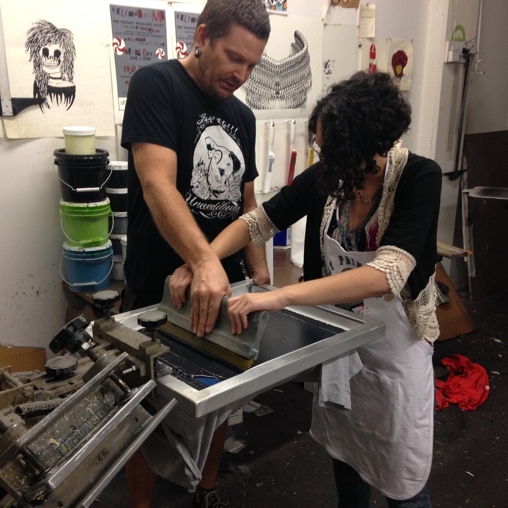 Visiting DIY Printing at Essex Studio and getting a hands-on lesson in screenprinting.