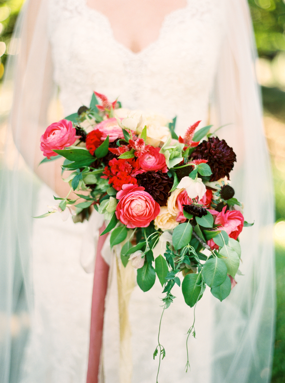 red bridal bouquet/dallas florist