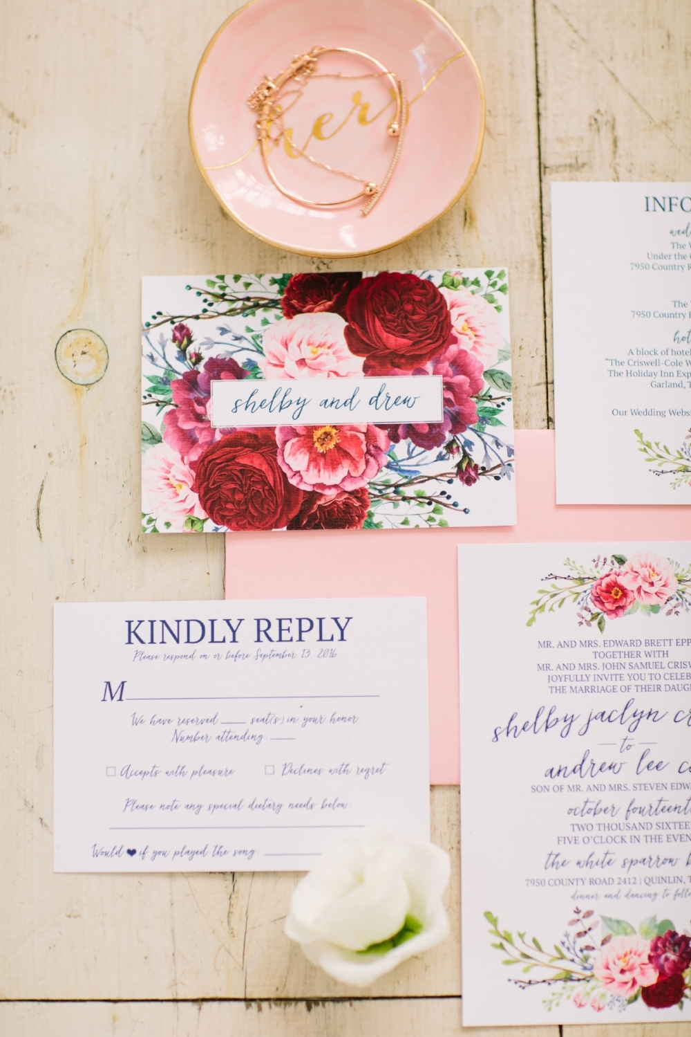 Floral Wedding Invitations - Dallas Wedding Planner