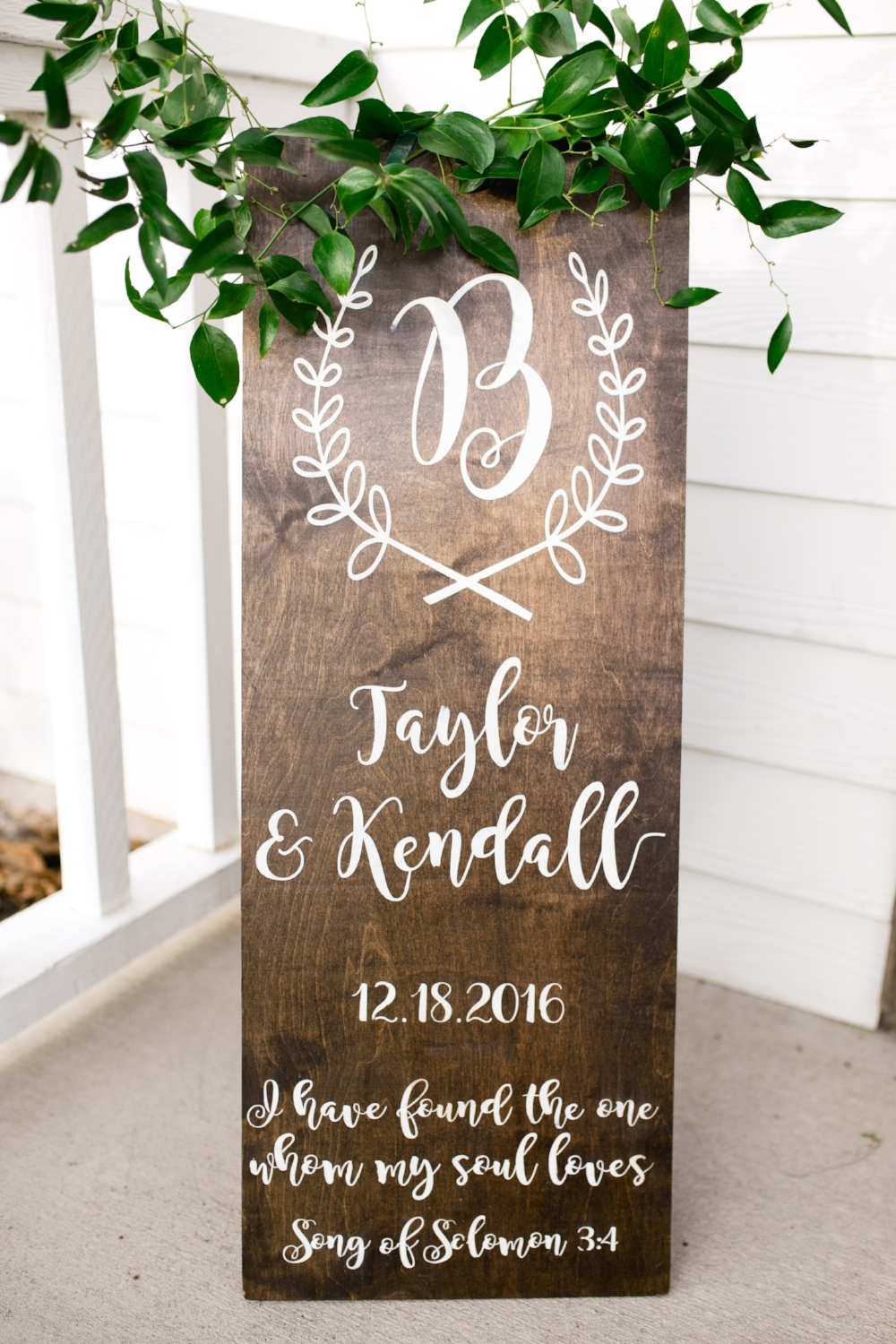 Wedding Signage with Greenery - Wedding Flowers in Dallas
