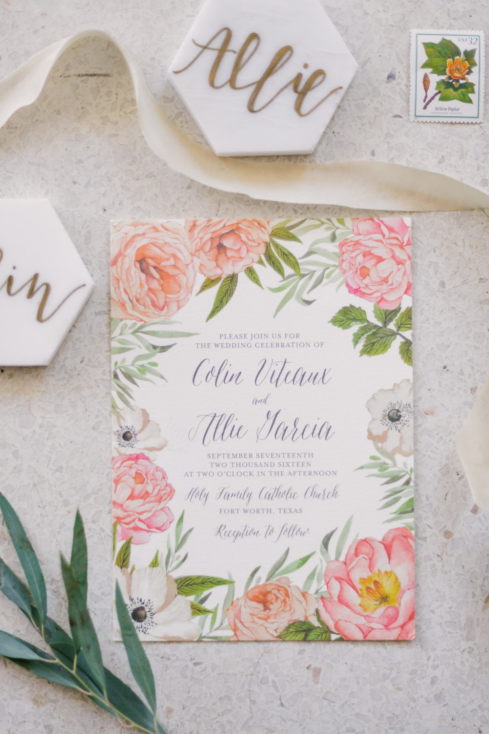 Floral Wedding Invitations - Wedding Planners in Dallas
