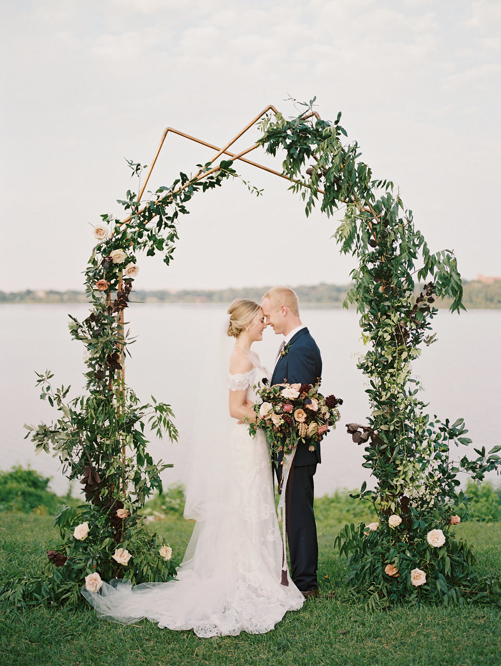 Modern Wedding Ceremony Arch - Wedfully Yours