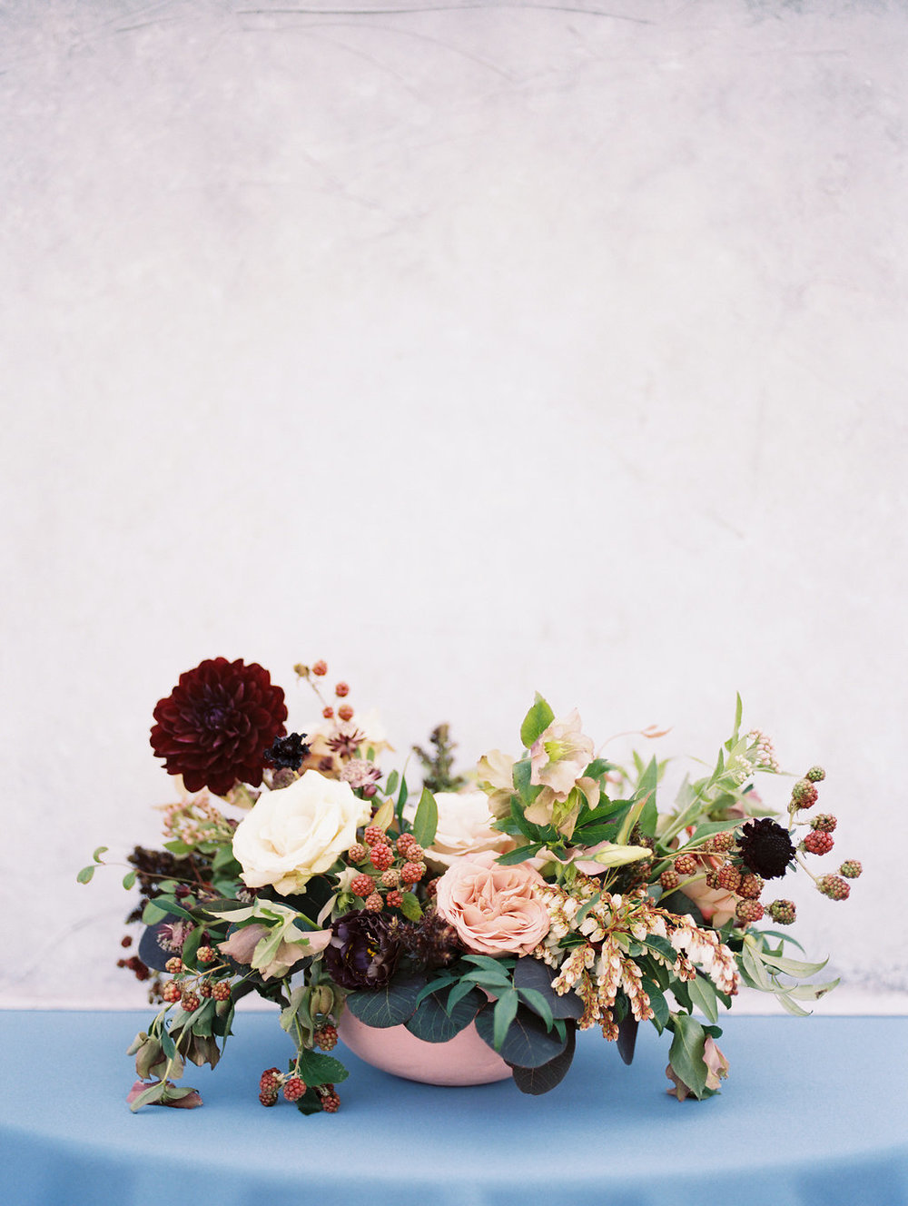 Burgundy and Blush Wedding Flowers - Wedding Centrepiece IDeas