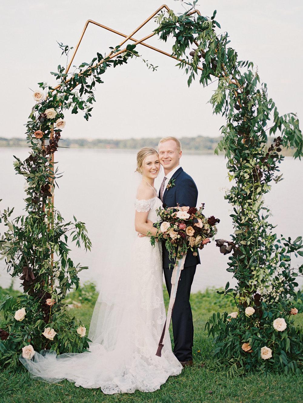 Modern, Minimalist Wedding Flowers - Wedding Flowers Dallas