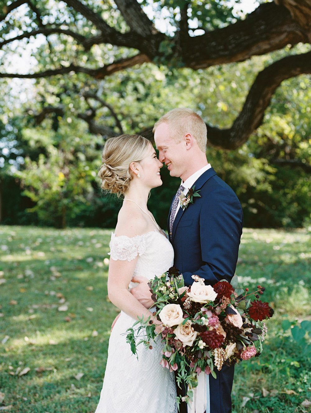 Burgundy and Blush Wedding Flowers - Wedding Florist in Dallas
