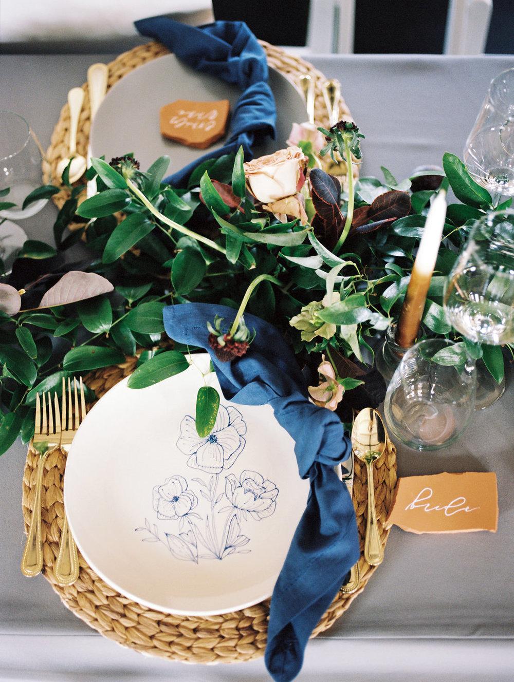 Garland Wedding Centrepieces - Lubbock Wedding Flowers