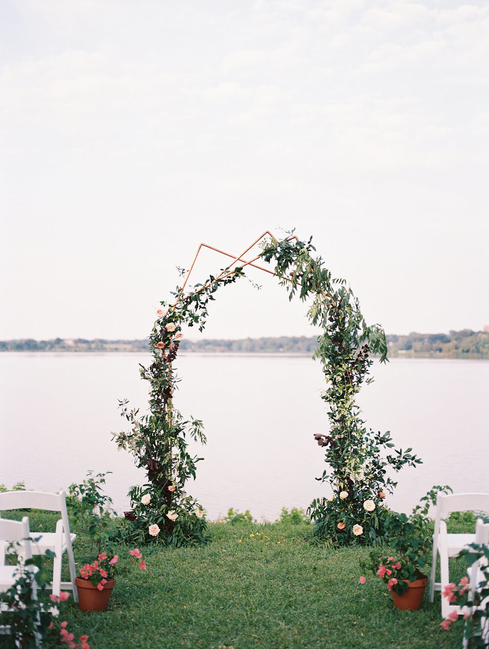 Copper Wedding Ceremony Arch - Modern Wedding Ceremony Decor