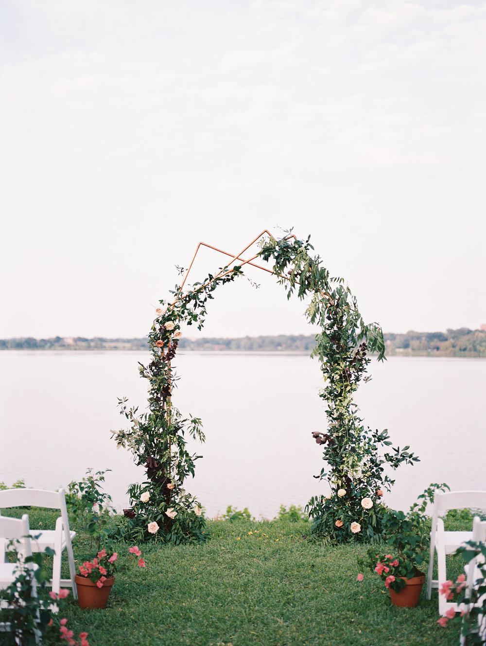 Copper Wedding Ceremony Arch - Modern Wedding Ceremony Decor