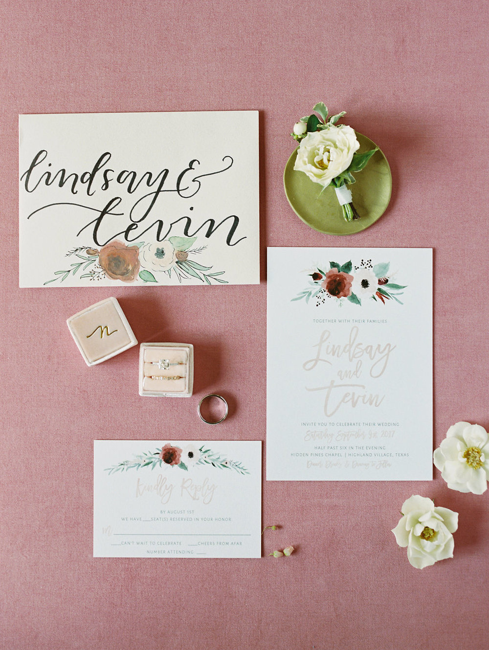 Floral Design Wedding Invitations - Dallas Wedding Planner