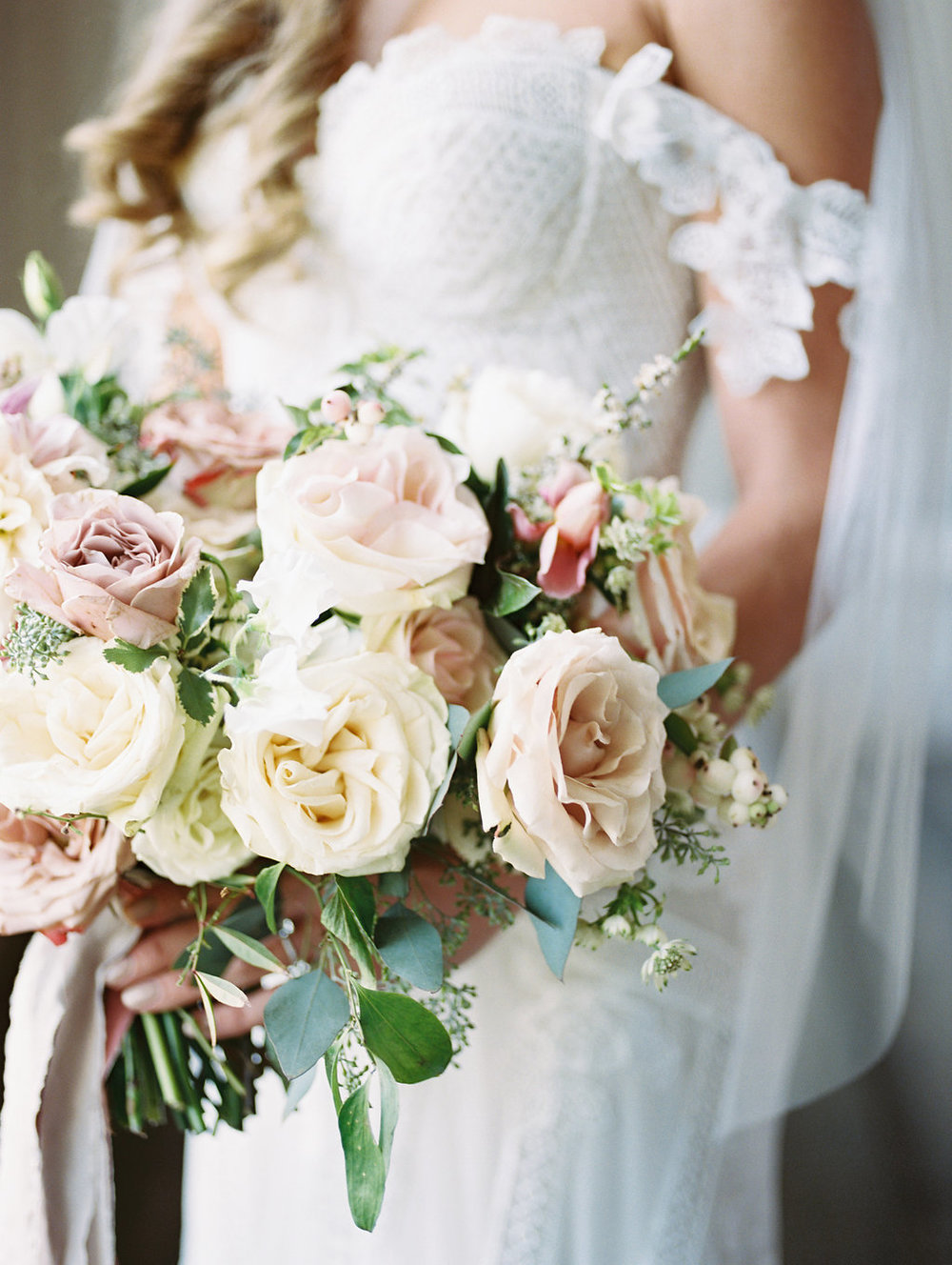 Blush and Cream Bridal Bouquet - Dallas Wedding Florists