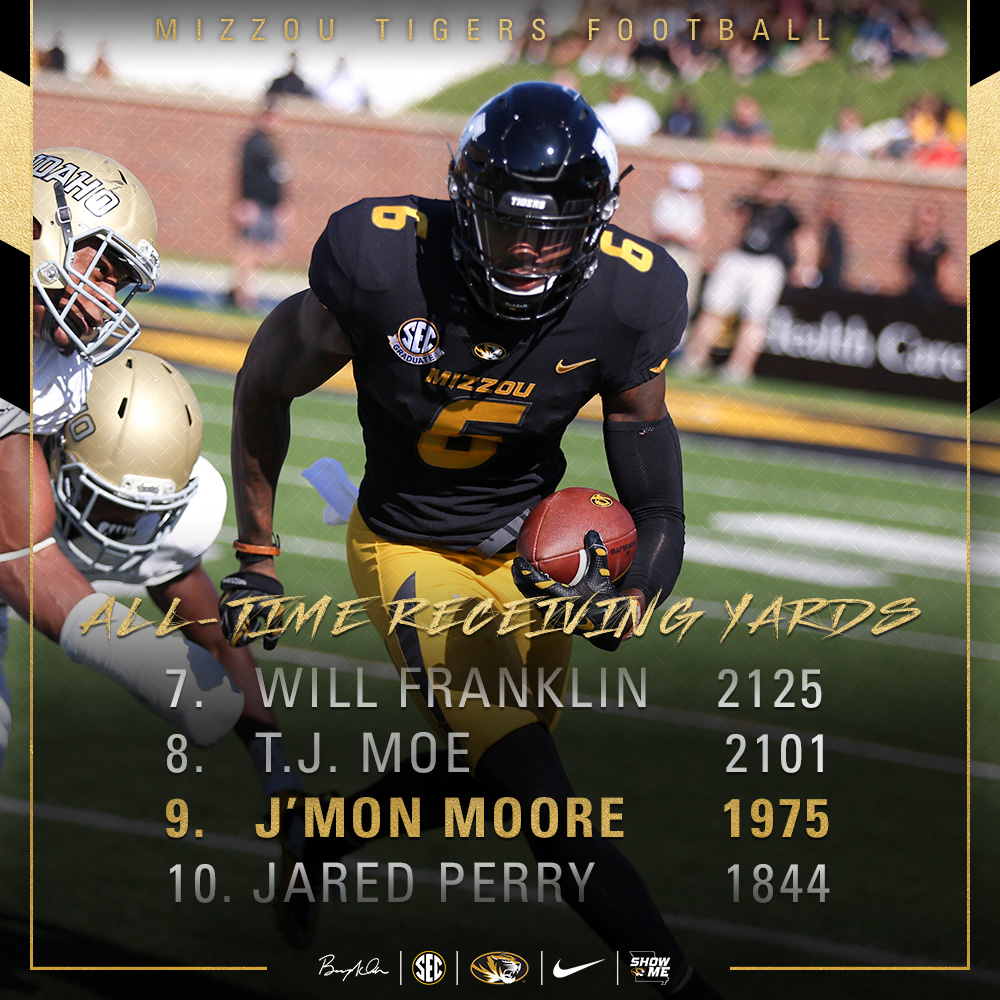 Moore: #9 All-Time Recieving Yards