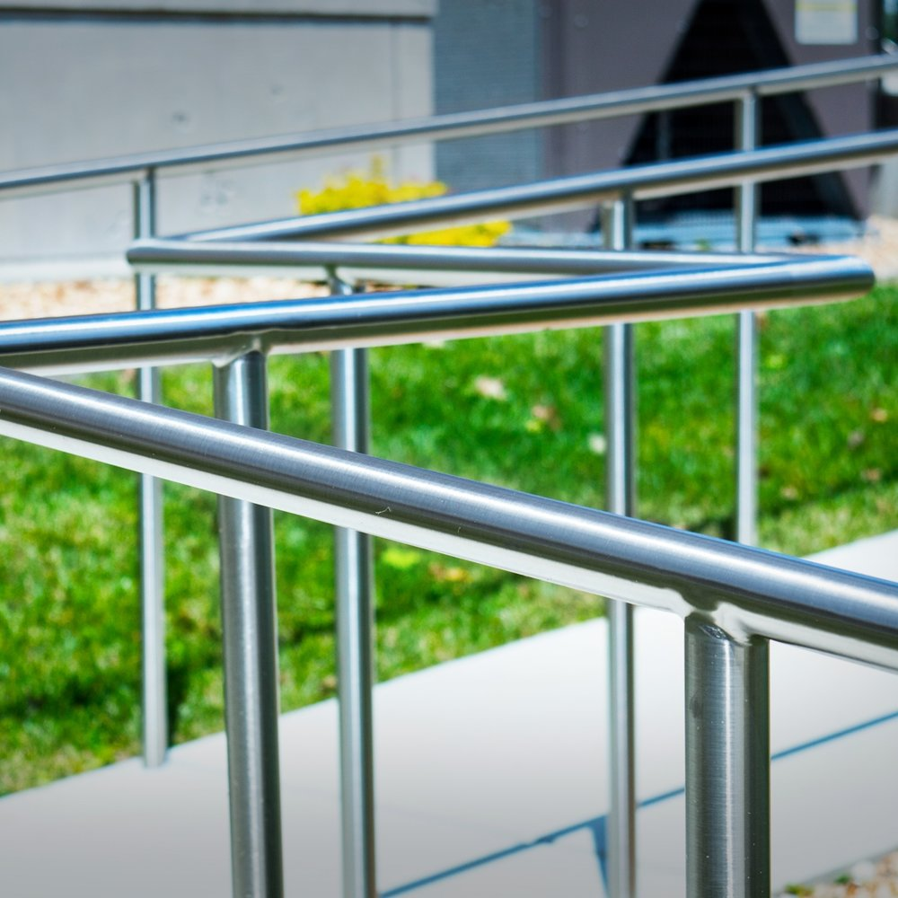 custom fabricated stainless steel rail systems