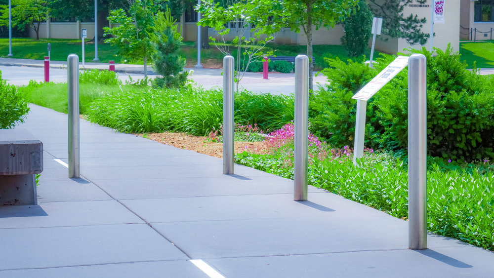 Custom Fabricated Stainless Steel Security Bollard Covers or Sleeves