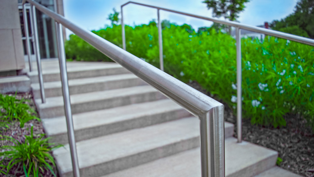 Custom Fabricated Stainless Steel Single Line Hand Rail