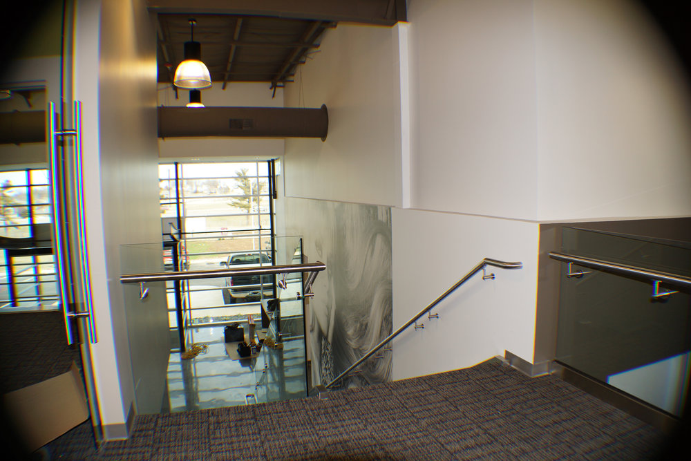Custom Fabricated Stainless Steel Tempered Glass Guardrail Salon Services Springfield MO