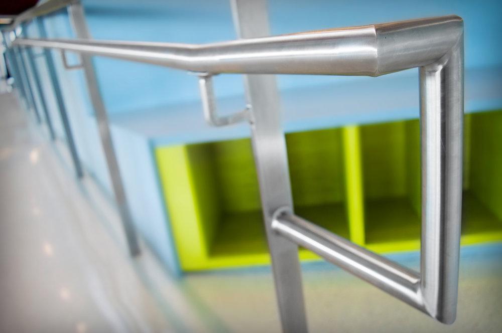 Custom Single Line Stainless Steel Handrail