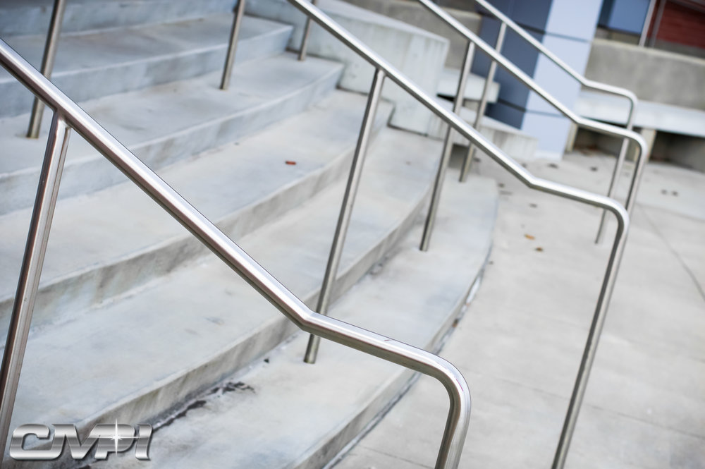 Custom Stainless Steel Single Line Handrail